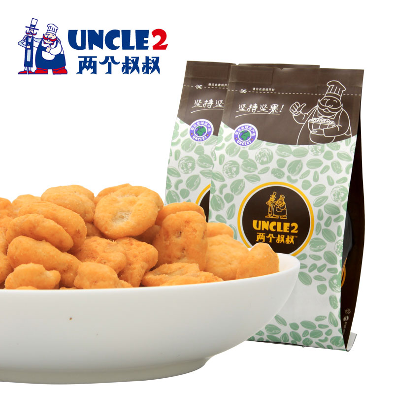 Two uncles crab flavor beans crab crab flavor beans beans snack small package dried fruit snack nuts 215g * 2
