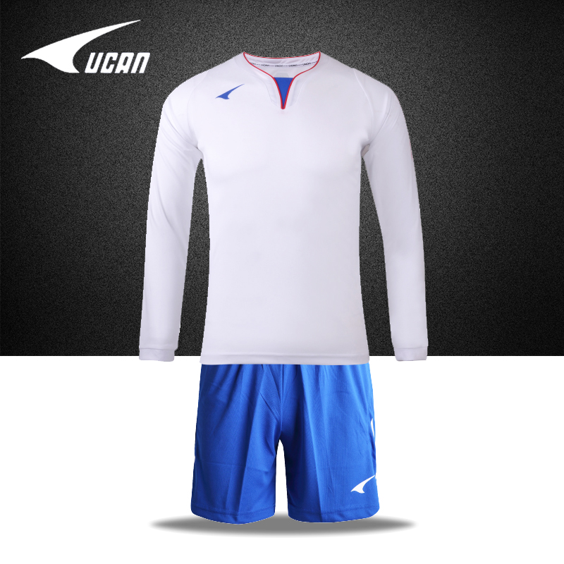 Ucan rui grams authentic men fall and winter long sleeve soccer jersey football clothes suit training suit buy custom printed jersey number