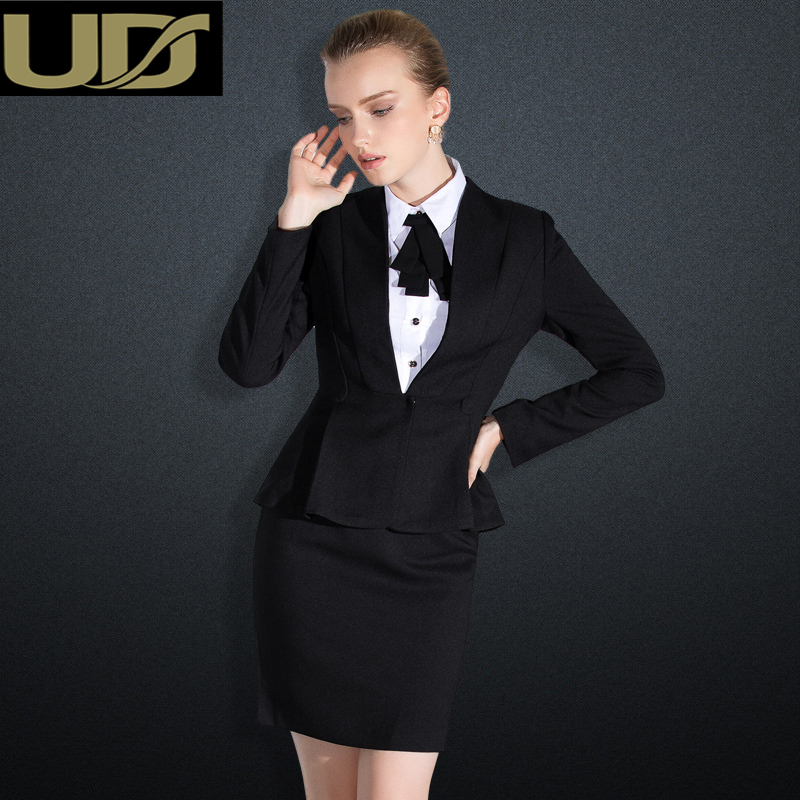 UD2016 autumn professional women suit three sets of civil service interview suit dress ol slim female skirt