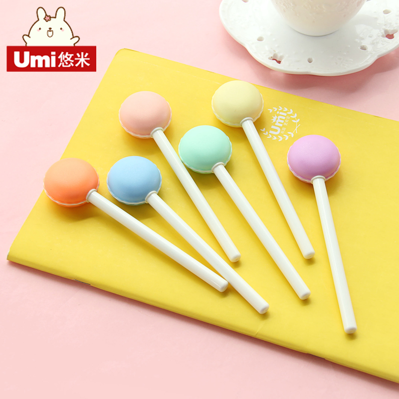 Umi korea cute gel pen pen korea creative stationery beautiful word sign pen personalized pen black pen