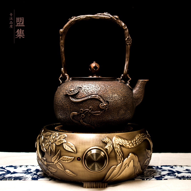 Union set suit handmade copper pot copper pot thick cast copper pot to boil water to make tea tea set special offer free shipping