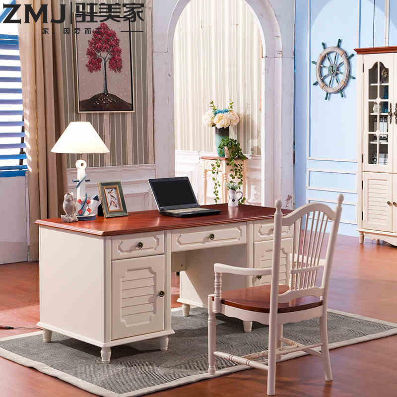 United states for home idyllic mediterranean wood desk computer desk desk computer desks and chairs combination of american country