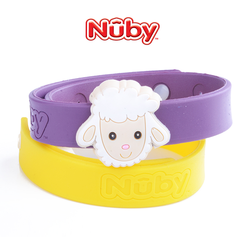 United states nuby nubi infant child baby natural plant mosquito repellent bracelet children mosquito repellent strap (2 pack)