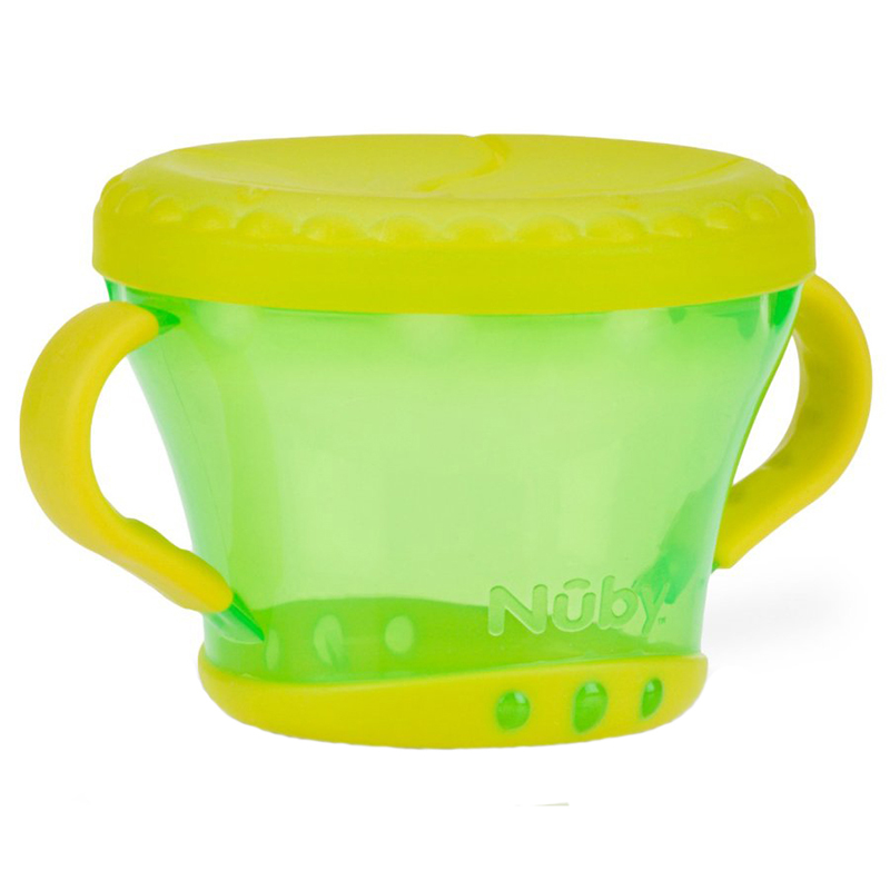United states nuby nubi snack bowl with handle special anti spill snack cup baby us direct mail