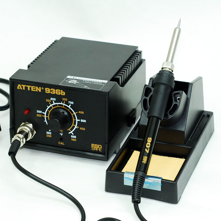 Upgrade metal heating core atten at936b antistatic heated iron thermostat economic type soldering station