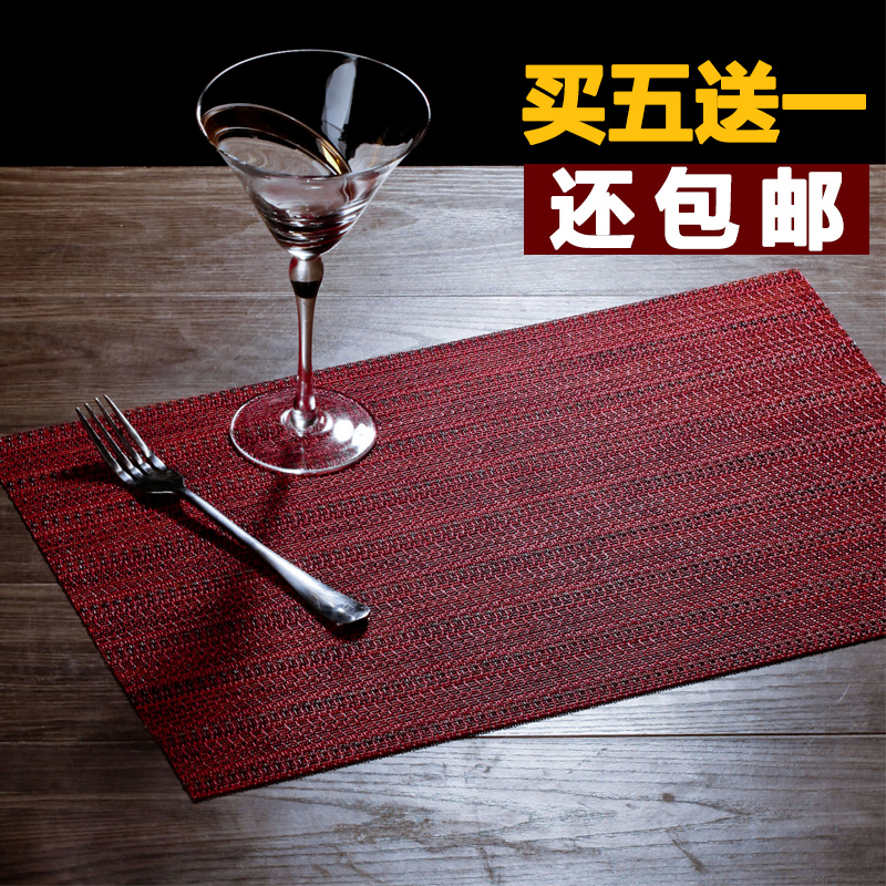 Upscale european pvc mat western pad insulation table mat can be washed green table linen placemats coasters specials