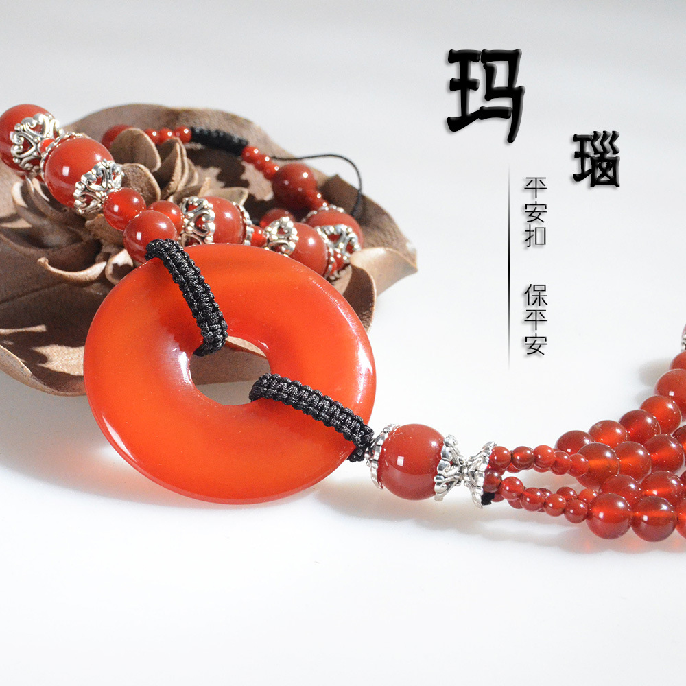 /Upscale luxury gift six donkey kong jelly beads pendant car stalls beads 15mm pu tizi buddha