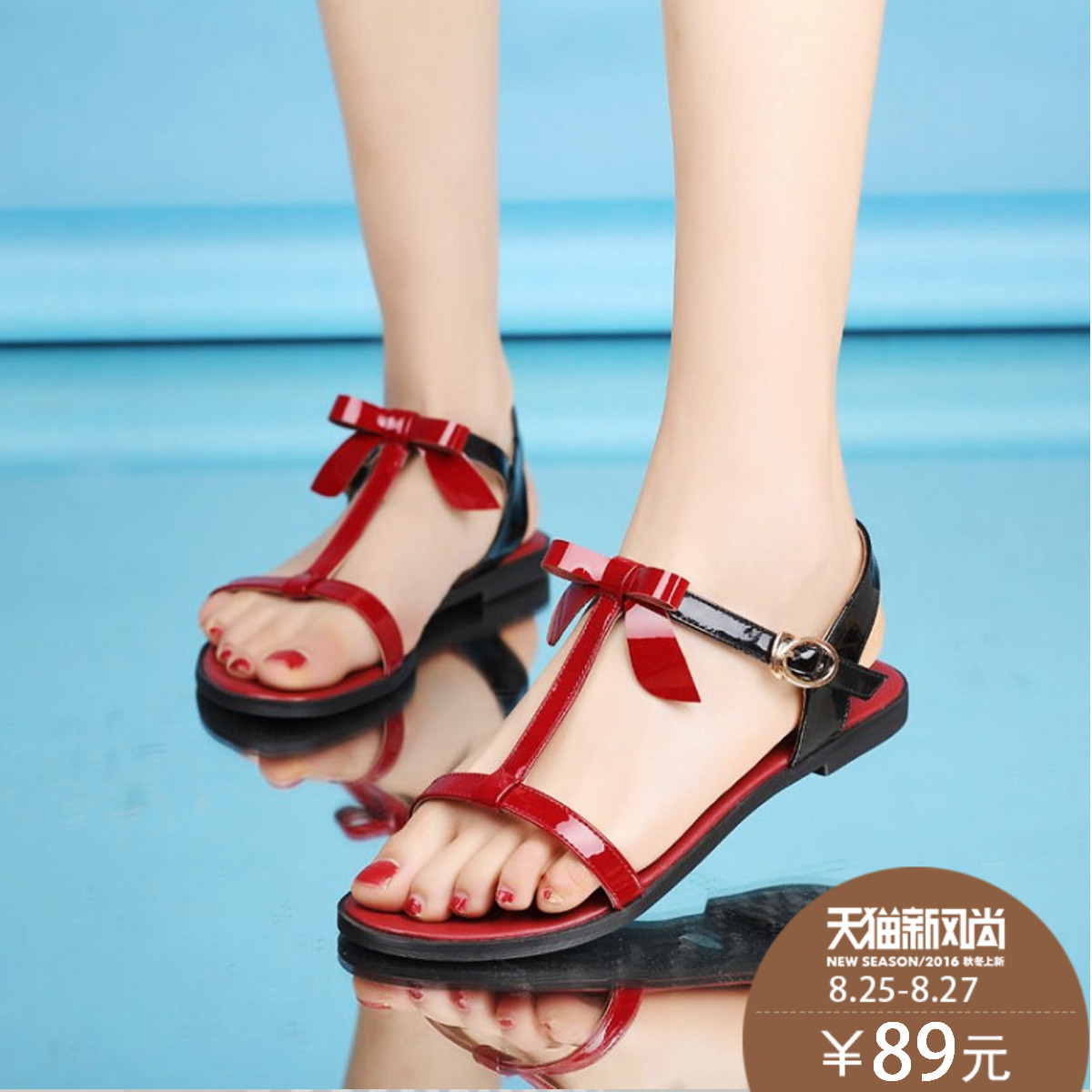 0fefa488818cb Get Quotations · Us bow sandals shoes 2015 summer bohemian sandals sandals  sandals female student flat bottom shoes