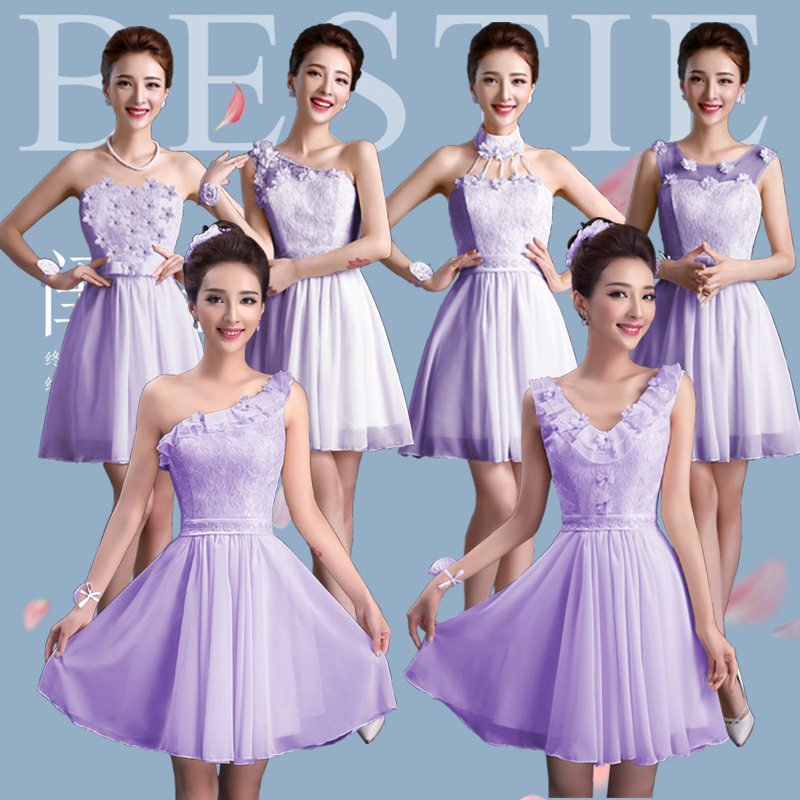 Us curtain summer bridesmaid dresses 2015 new bridesmaid dress short paragraph was thin toast the bride and bridesmaid dress mission