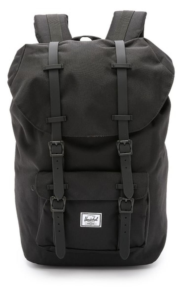 f58a1fadae0 Get Quotations · Us direct mail herschel supply E10023D pure black cover  letters shoulder bag bag man bag