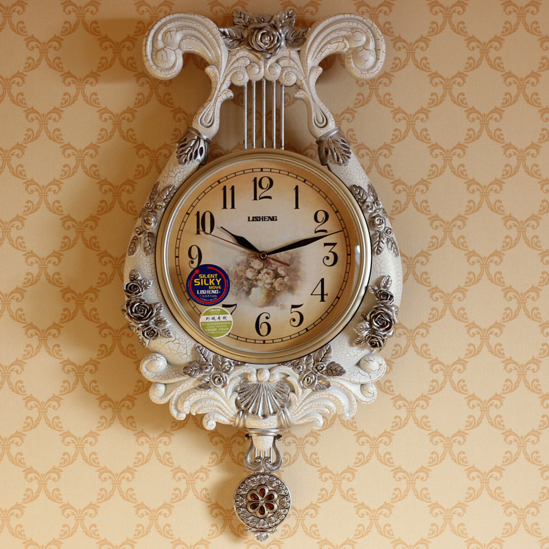 Us house creative home european luxury living room decoration new house wall decoration wall clock retro wall clock decoration