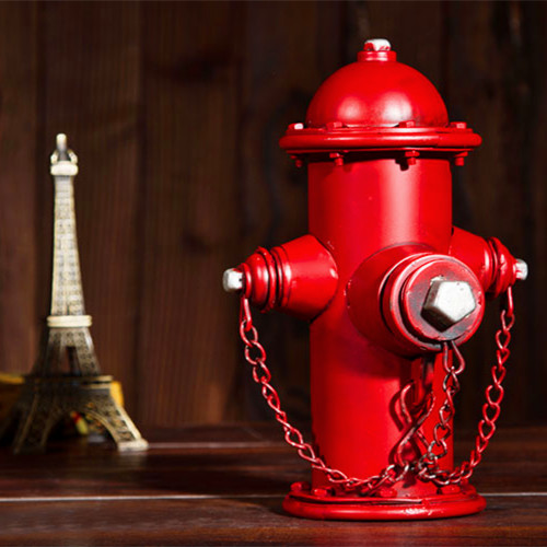 [Us] jing ou creative retro metal fire hydrant model piggy photography props decoration ornaments landing
