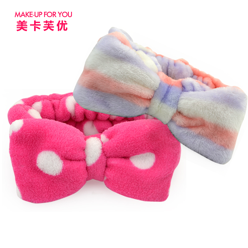 Us kafu excellent korean small fresh big bow headband face makeup available for dry hair with a towel bar