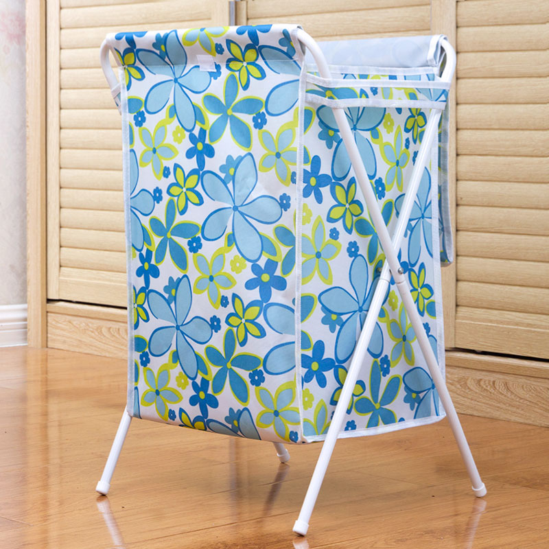 Us man white tube oxford cloth covered folding laundry basket laundry basket laundry basket of clothes storage baskets laundry baskets large waterproof