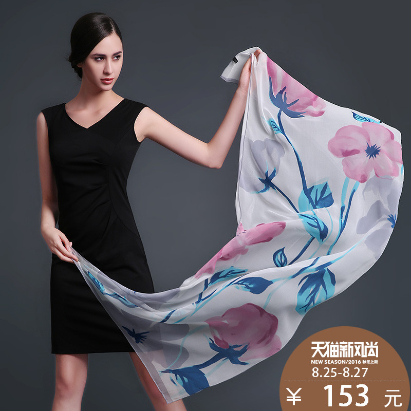 Us rui taman new autumn and winter 100% silk scarves silk scarves silk scarf shawl long section