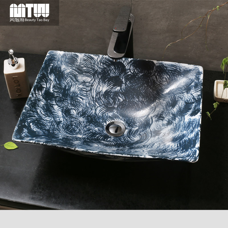 Us tao bay archaized retro ceramic art basin wash basin wash basin counter basin wash basin counter basin vanities simple personality
