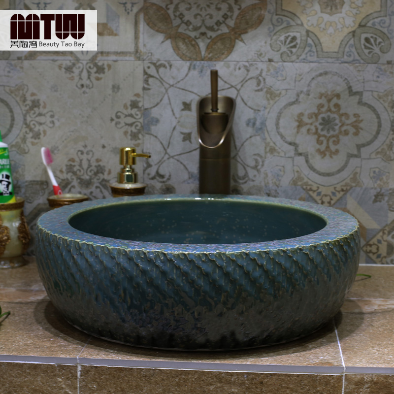 Us tao bay basin basin ceramic wash basin wash basin wash basin art basin counter basin vanity basin manual
