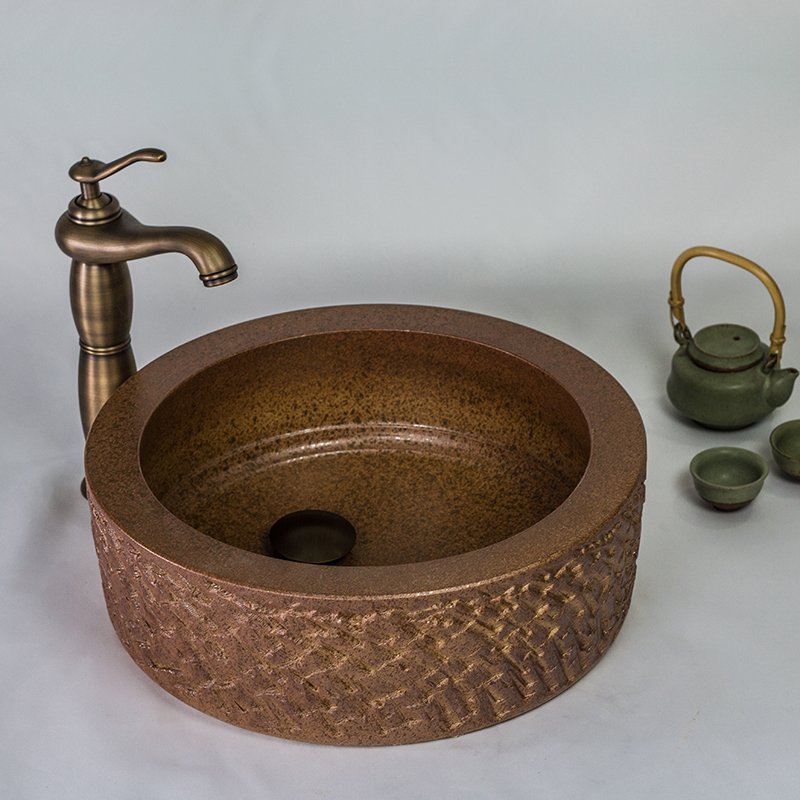 Us tao bay embossed imitation ceramic art basin counter basin ceramic basin wash basin wash basin wash basin hand basin basin creative