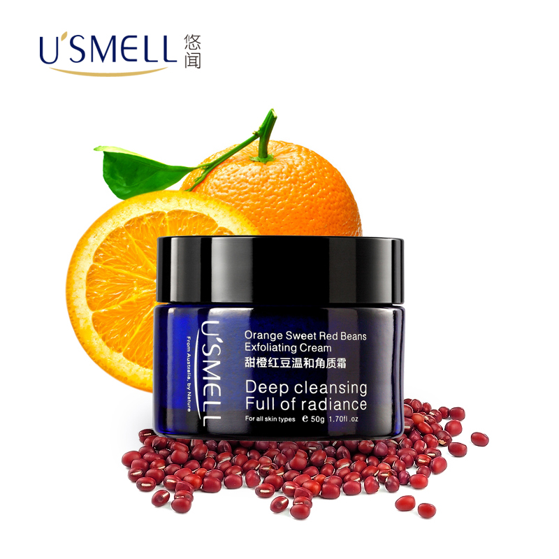 Usmell leisurely smell of orange red beans g deep cleansing gentle exfoliating cream exfoliating scrub cream