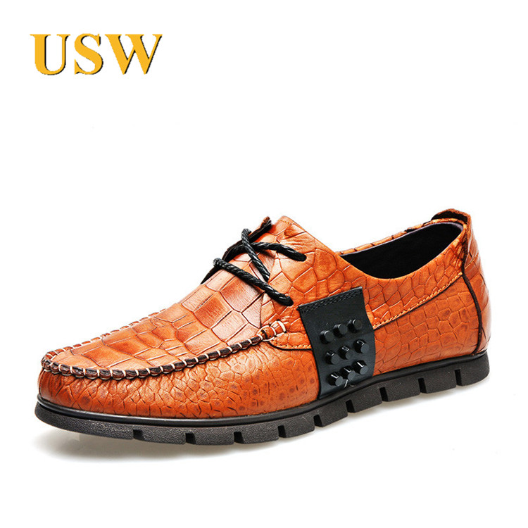 37414b06090a Get Quotations · Usw customize new autumn and winter men s casual leather  shoes tide solid square head lace low