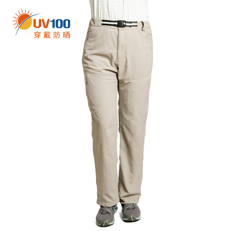 Uv100 breathable climbing pants trousers ms. uv sunscreen pants thin spring and summer outdoor drying pants 51006