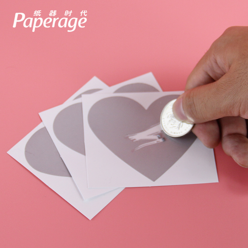 Valentine's day gift couple diy scratch coating sticker fun loving gift ideas confession