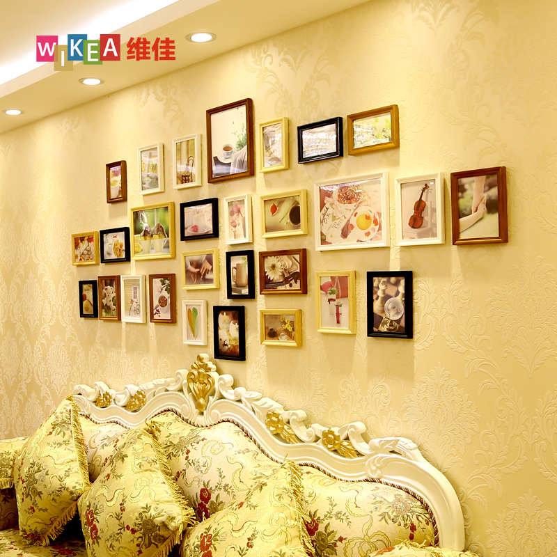 Vanguard 28 fashion large european wood frame photo wall photo frame wall photo wall creative combination photo frame wall