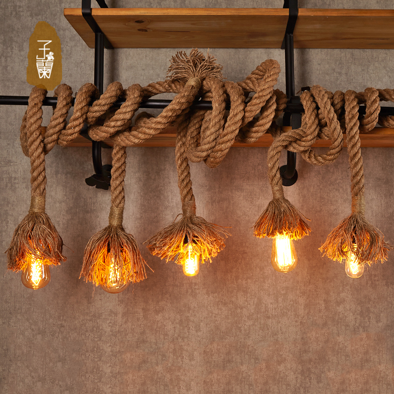Vanilla lighting hemptwist industrial wind chandelier bar creative personality nordic loft restaurant lights clothing store hanging lighting