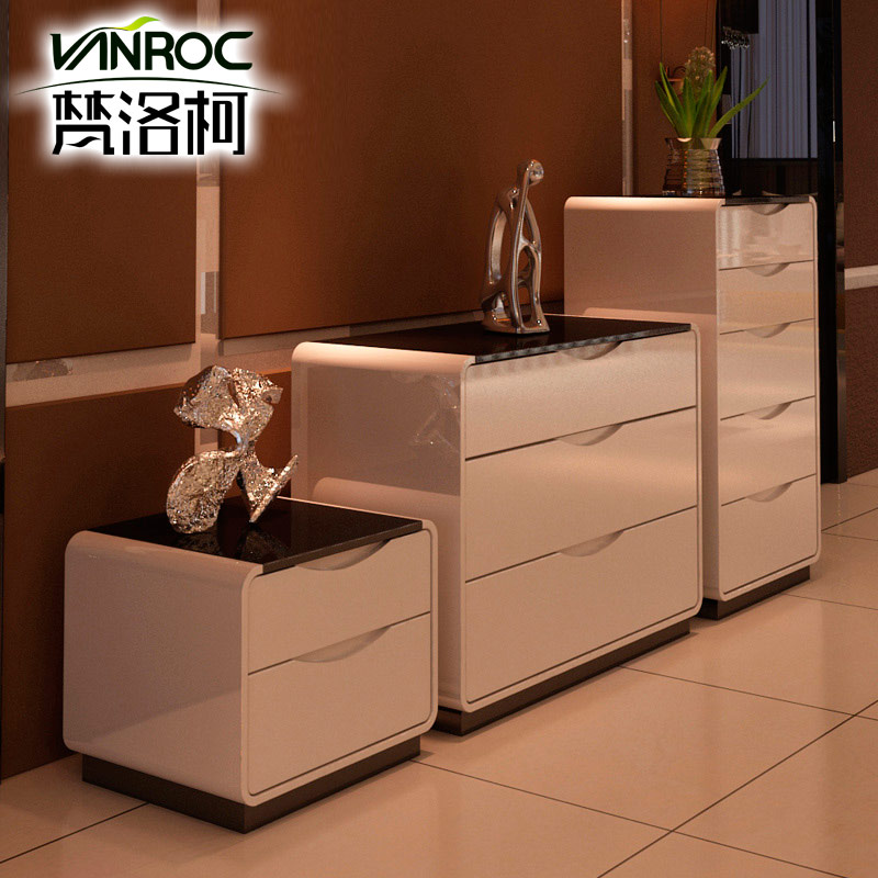 Vatican luoke two drawers three doo doo cabinet chest of drawers white upscale piano paint modern minimalist cabinet five Pack home