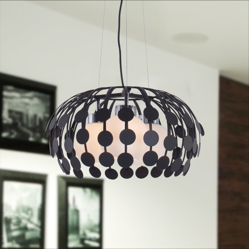 Vemma modern minimalist black and white glass chandelier wrought iron chandelier creative personality living room dining room lamps study room lights lying