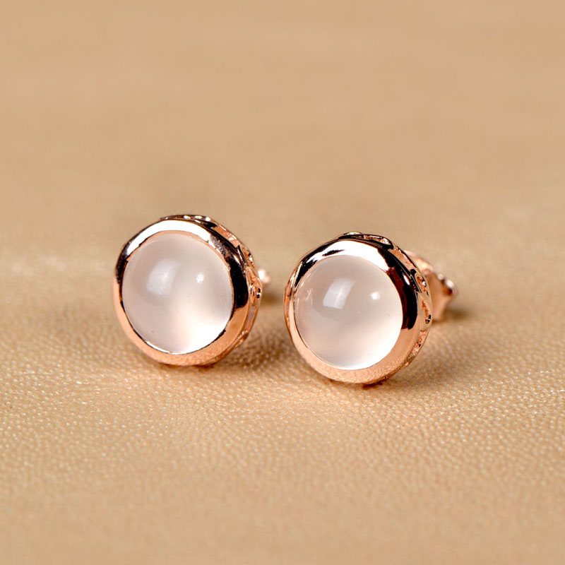 Get Quotations Very Thailand 925 Silver Earrings Moonstone Korean Fashion Gold Plated