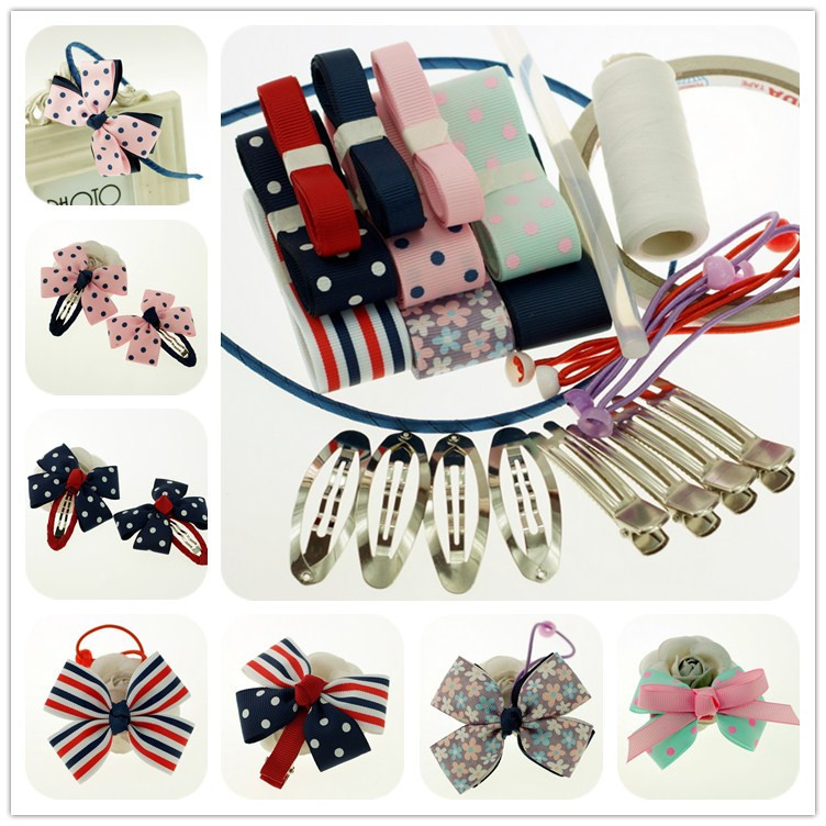 Video tutorial lesson diy handmade hair accessories material paternity kindergarten children's day handmade bow side clip