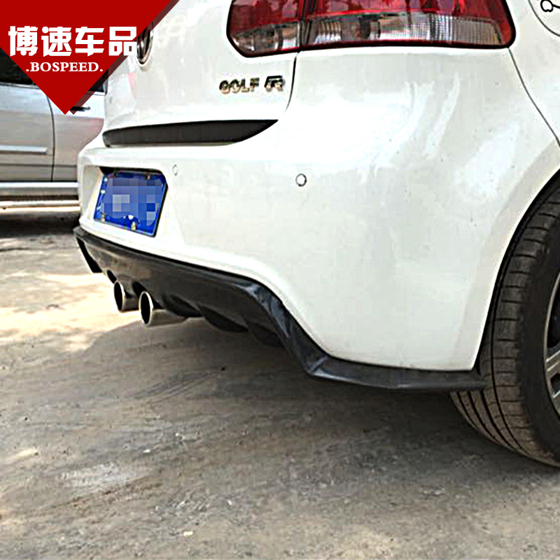 Volkswagen golf 6 r20 modified exot section carbon fiber rear lip r20 special in the rear lip spoiler