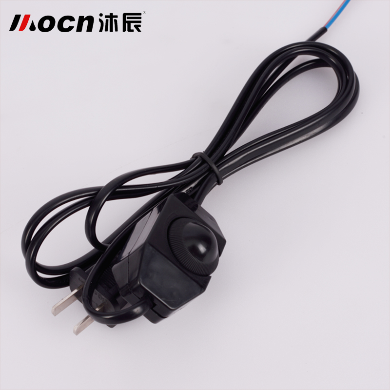 Wall lamp wall lamp power cord plug wire power cord with switch wiring accessories button switch rotary switch lamp dimmer switch line