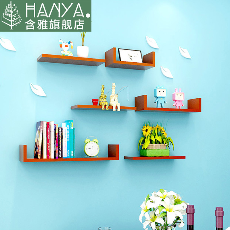 Wall wood room wall living room tv backdrop decorative wall shelf wall shelf creative lattice