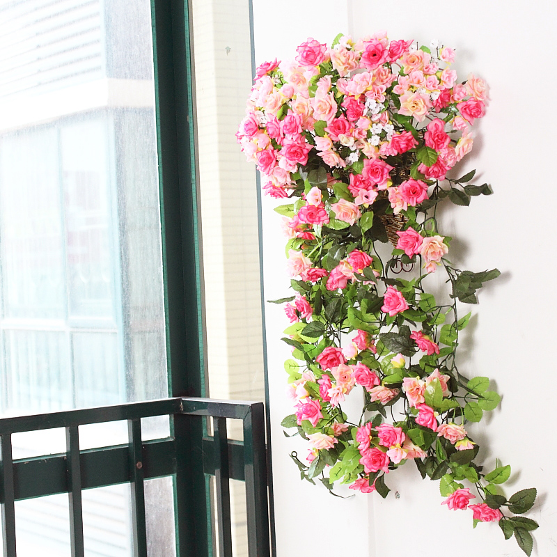 Wall wounded in action simulation roses home wall hangings decorative wall hangings wedding artificial flowers artificial flowers simulation rattan vine flower