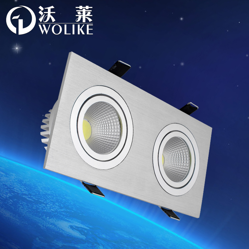 Walleye cob headed lighting grid square ceiling 2*3 w 2*5 w led lights venture Grille lamp