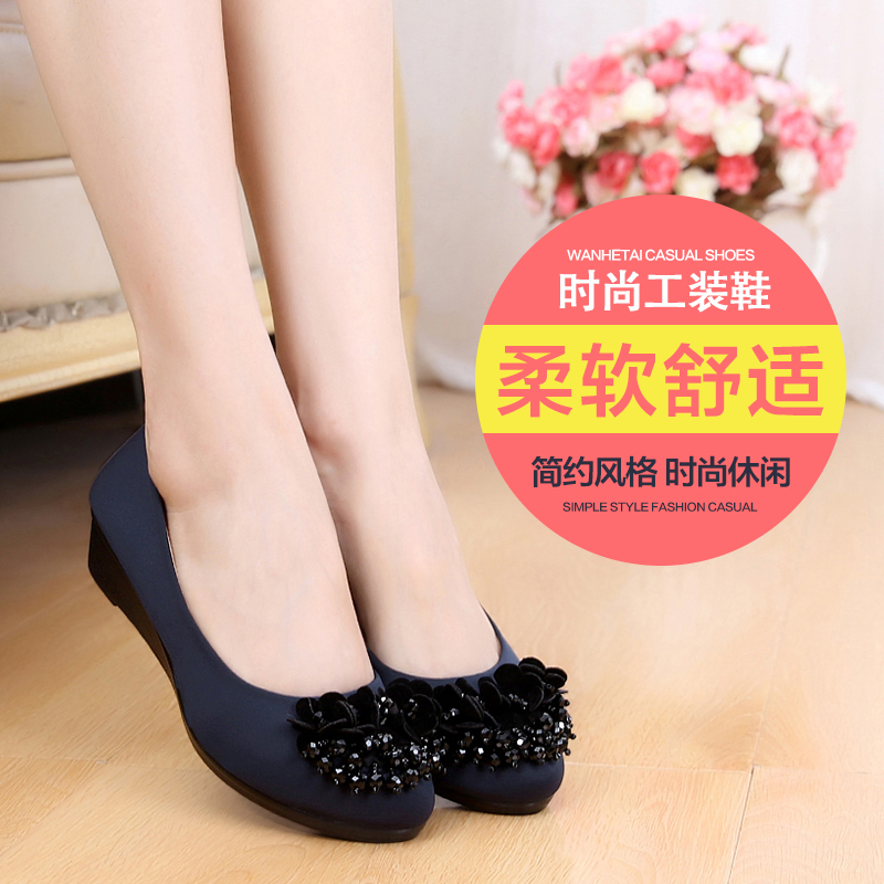Wan tai spring old beijing shoes shoes shoes black frock shoes fashion shoes mom slope with mom shoes women shoes