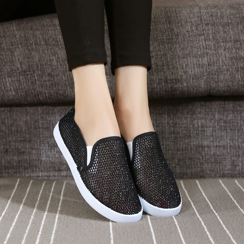 Wan tai summer lightweight breathable mesh shoes mesh sports shoes with flat shoes casual shoes old beijing shoes shoes