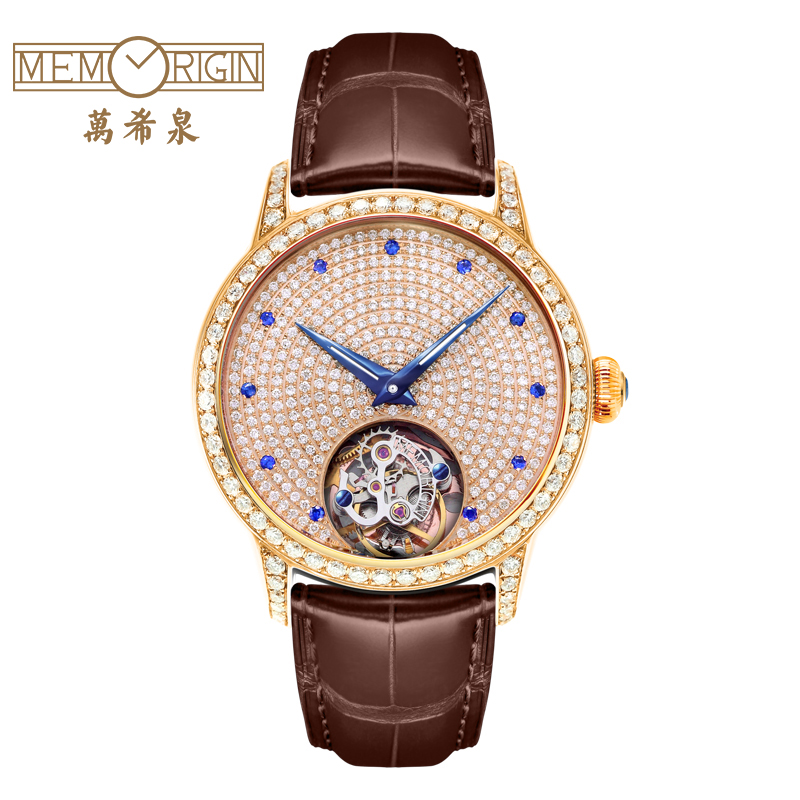 Wan xi quan classic series full of diamond tourbillon watches diamond mechanical female form sapphire nail understated luxury