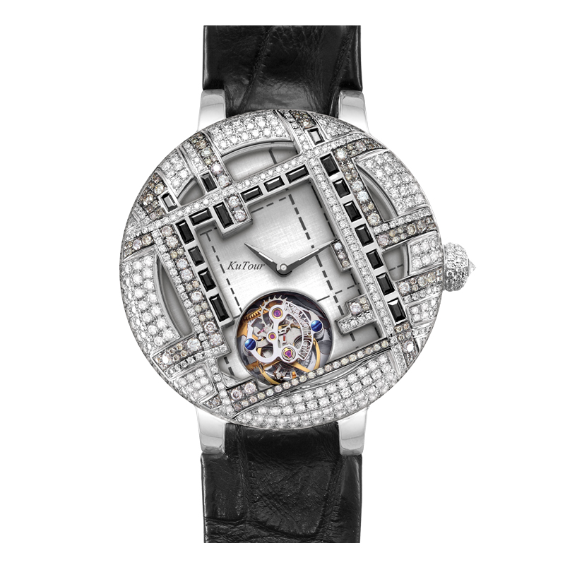 Wan xi quan tourbillon watch mechanical watch business casual series of diamond ladies watches