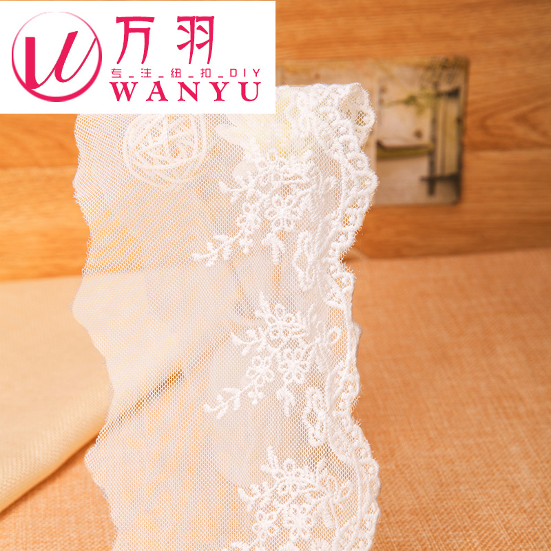 Wan yu a floral skirt sofa curtains diy clothing accessories lace mesh embroidery fabric