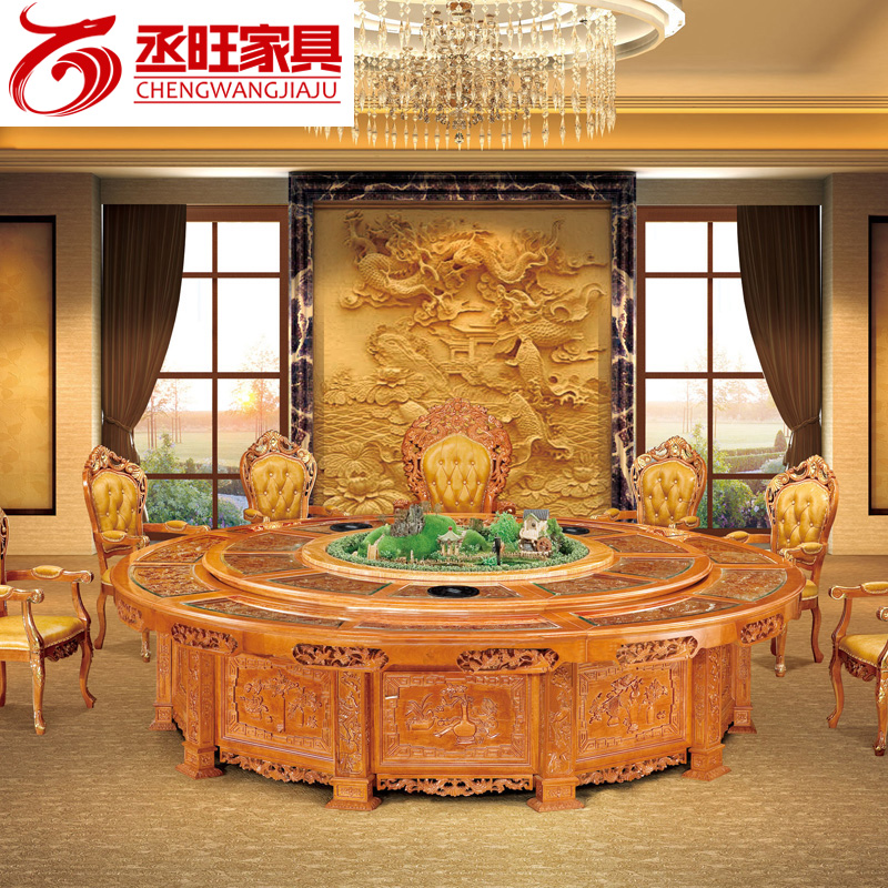 Wang cheng electric fondue pot tables furniture mahogany dining table dinner table dining table cooker hotel project