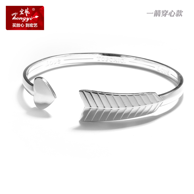 Wang yi fine silver jewelry counter genuine fashion new stone mandrel rose pattern leather strap bracelet ms. bracelet female models