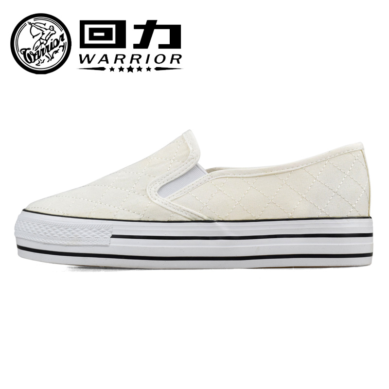 Warrior warrior shoes canvas shoes women canvas shoes female spring and summer white shoes thick crust muffin with flat shoes loafers