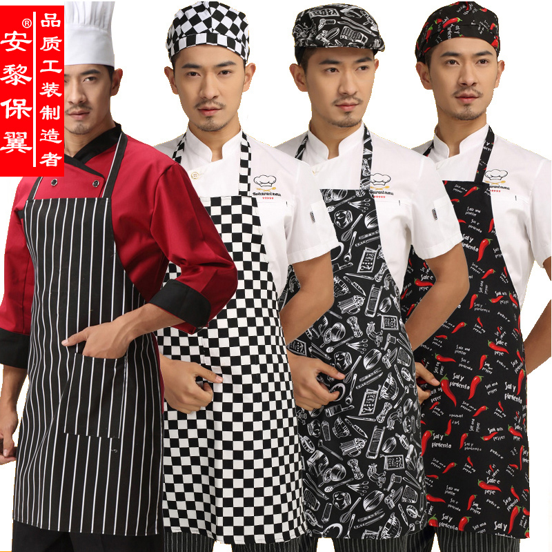 Waterproof apron black apron halter apron chef chef service hotel chef cooking aprons aprons overalls restaurant