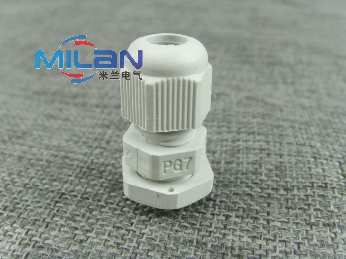 Waterproof nylon plastic cable glands glenn head cable connector waterproof connector pg7 black and white