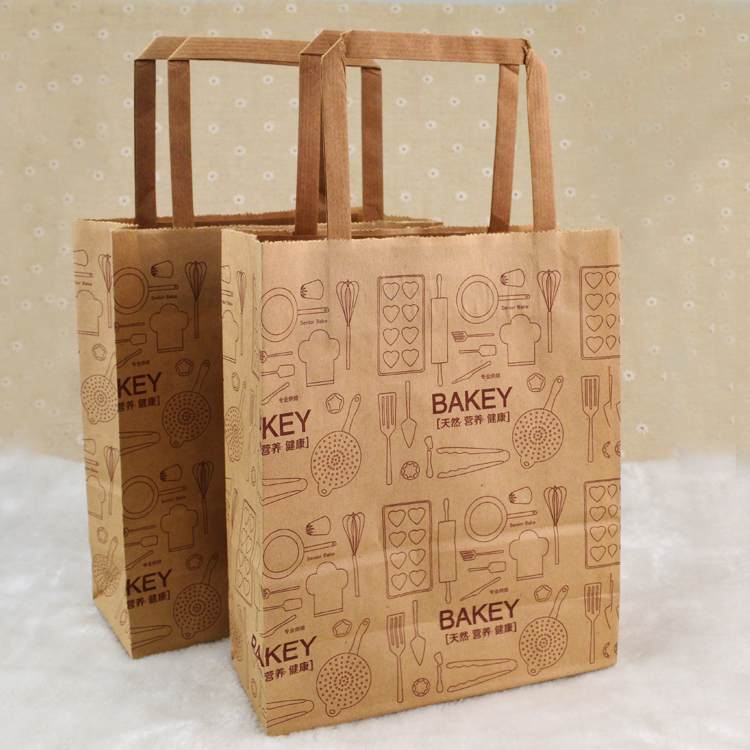 Watson tiancheng bakey dessert pastry bag kraft paper gift bag packing bags 10 bakery packaging
