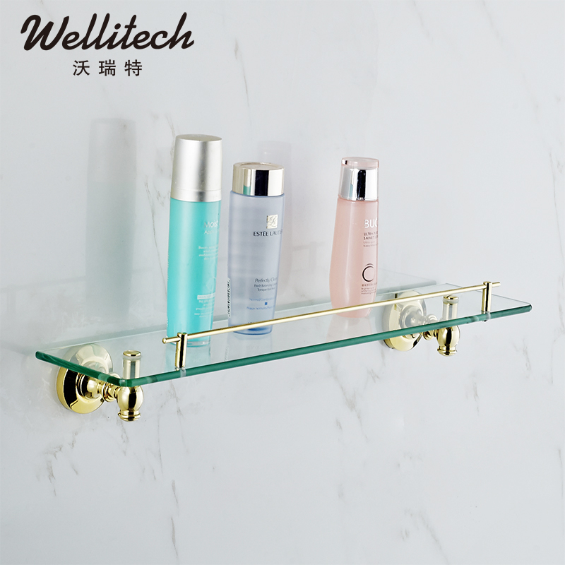 Waugh wellitech vittoret gilded copper bathroom vanity shelf bathroom hardware accessories