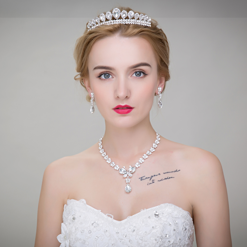 Wedding dress bridal wedding frontlet flaxen hair accessories alloy crown rhinestone crystal tiara hair accessories wedding dress
